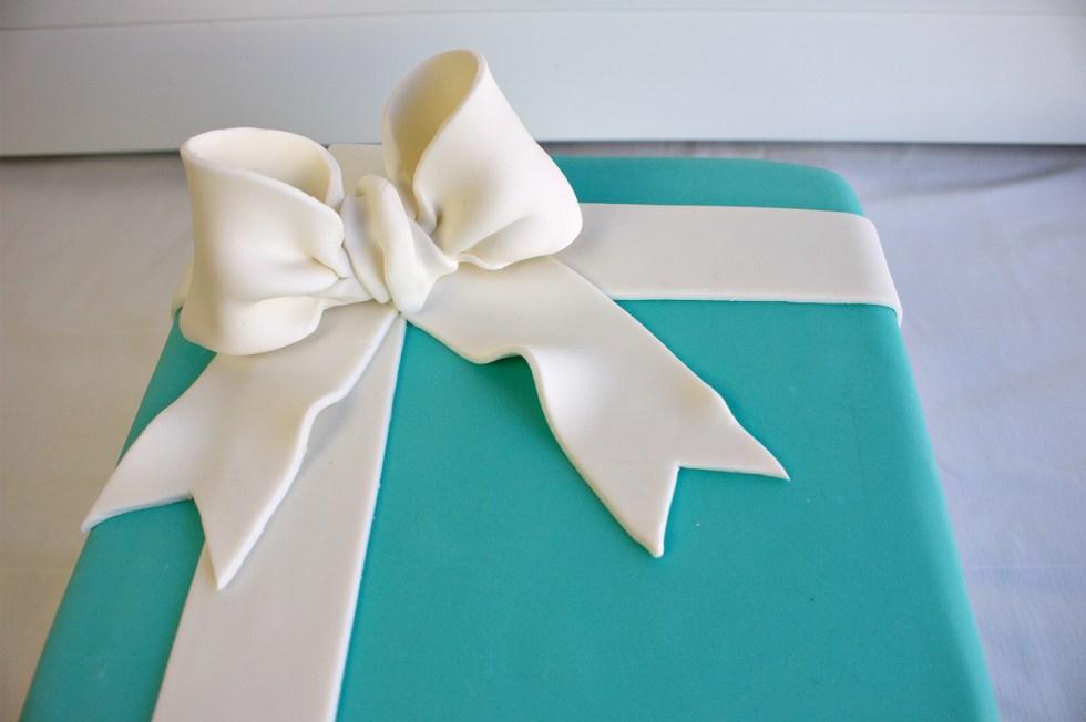 Tiffany bow cake