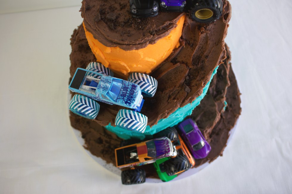 Monster Truck Cake top