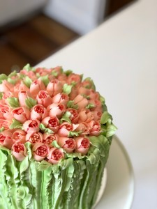 Beautiful Buttercream Tulip Cake With Russian Piping Tips