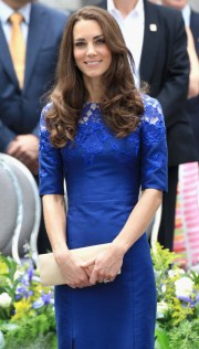 Kate Middleton - Blue Lace Dress
