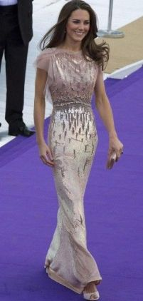 Kate Middleton - Sequined Shimmer Gown
