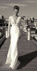 Amazing long sleeves wedding dress