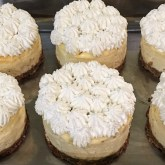 Cheesecakes individuels citron/vanille