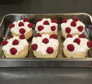 Cheesecakes individuels vanille/citron/framboises
