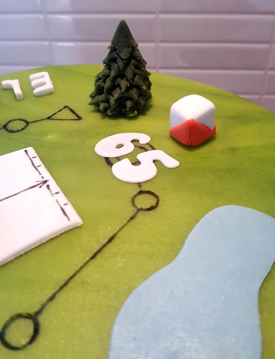 Orienteering cake - orienteringstårta