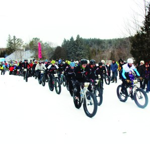 Fat biking attracts racers to Albion Hills Albion Hills Conservation Area was the scene Saturday of Superfly Racing's annual Fat Bike Festival. A fat bike is like a mountain bike, except it the frames have been adjusted to accommodate wider tires with heavy treads to deal with the snow encountered on the trails. Here, competitors were taking off in the main event.