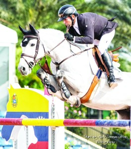 Eric Lamaze and Houston won the $35,000 Ruby et Violette WEF Challenge Cup Round III last Thursday at the Winter Equestrian Festival in Wellington, Florida. Photo by Starting Gate Communications