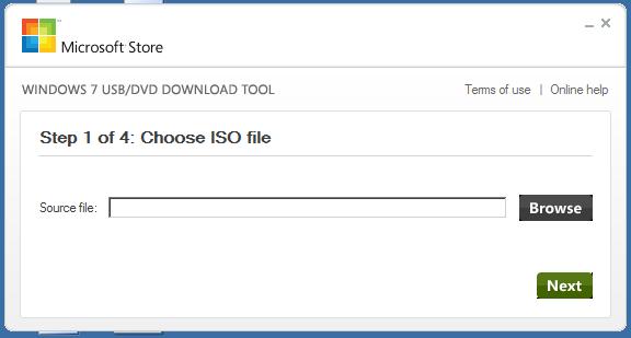 windows7 USB DVD downloader