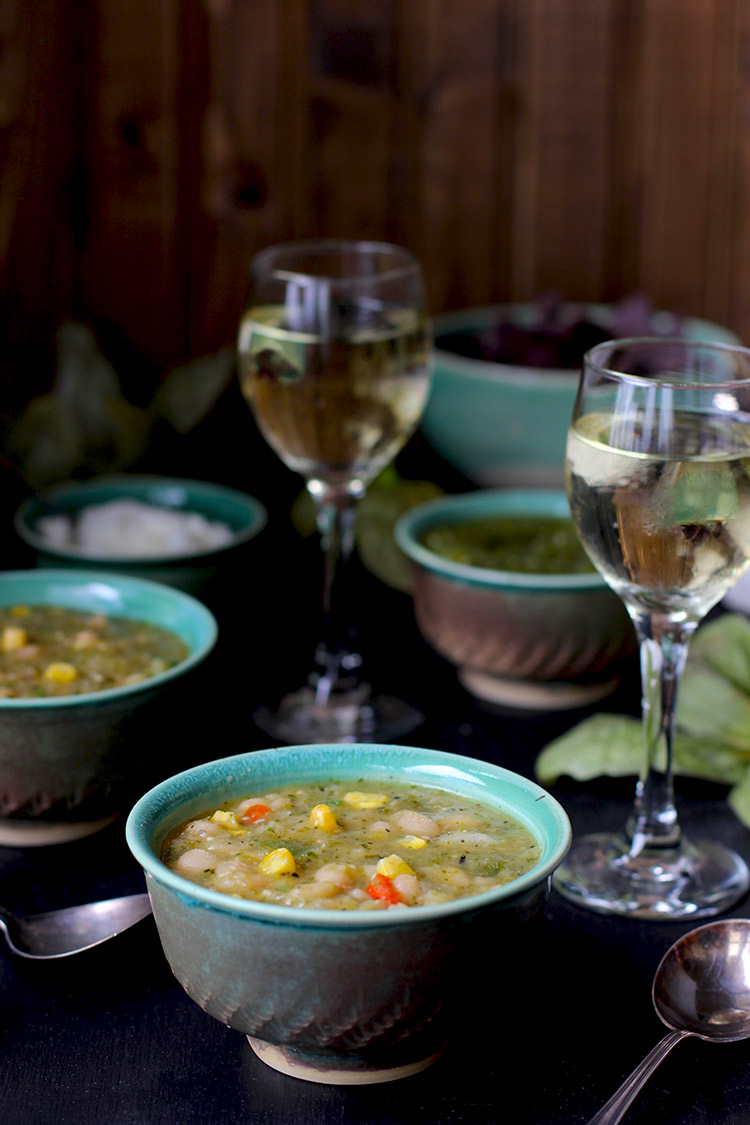 White Bean Tomatillo Verde Soup