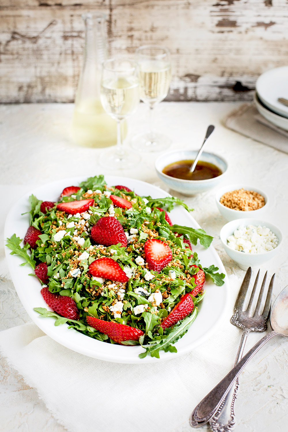 Strawberry Arugula Salad with Hibiscus Vinaigrette
