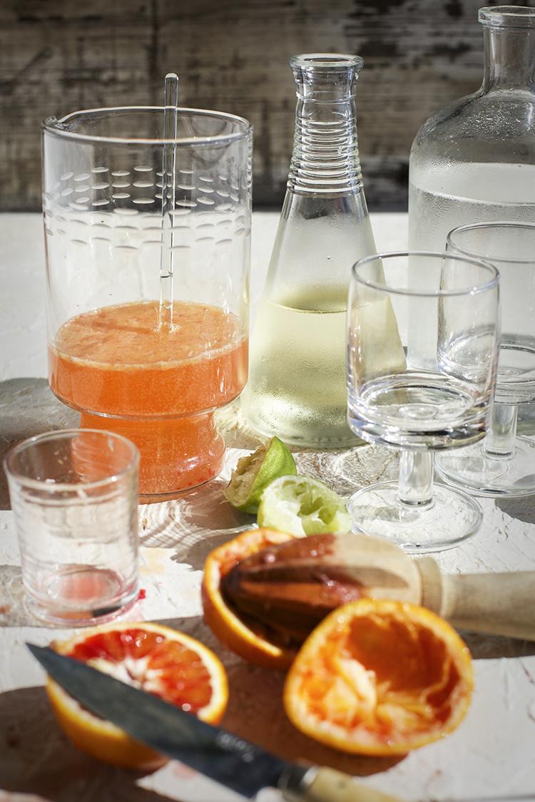 Blood Orange Lime Wine Spritzer