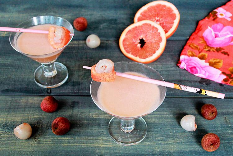 Pink Lychee Martinis