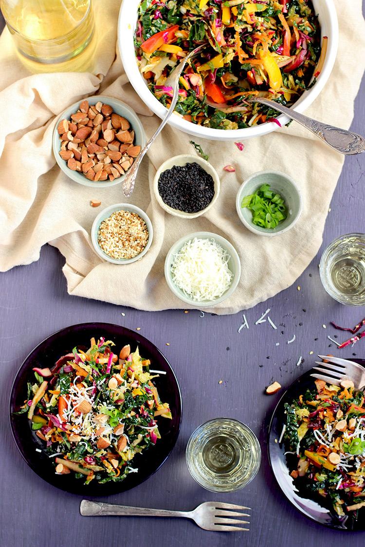 Kale-Salad-Sesame-Mandarin-Tahini-Dressing