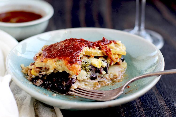 Black-Bean-Potato-Au-Gratin-with-a-Roasted-Poblano-Cheese-Sauce