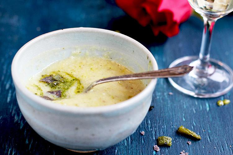 Creamy-Potato Tomatillo Soup