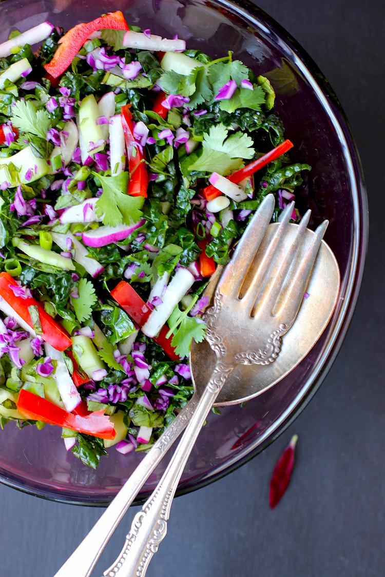 Kale Roasted Carrot Salad