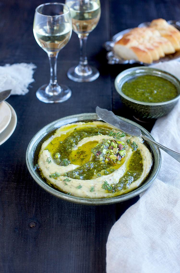 Thyme Pistachio White Bean Dip