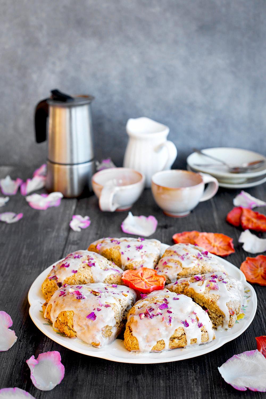 Persimmon Rose Scones