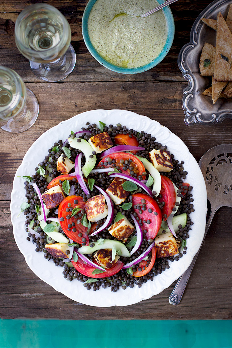 Black Lentil Greek Salad