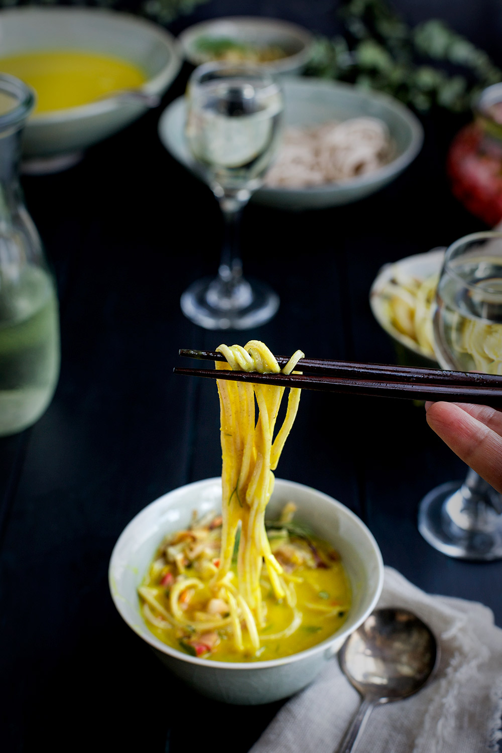Golden Fennel Soba Noodle Soup