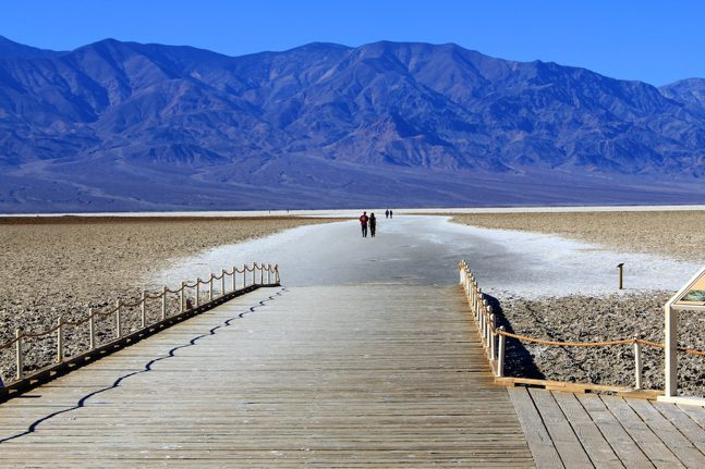 Salt lake in badwater