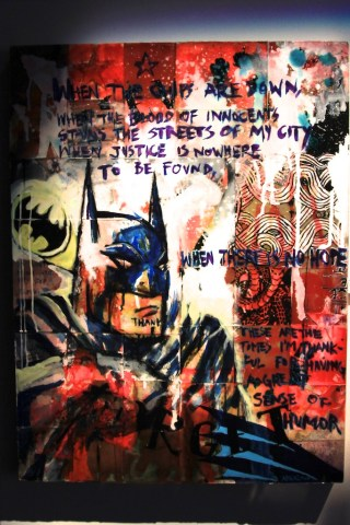 Batman Urban Art 320x480