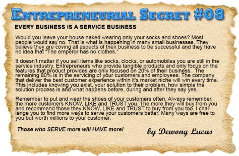 Entrepreneurial Secret #8