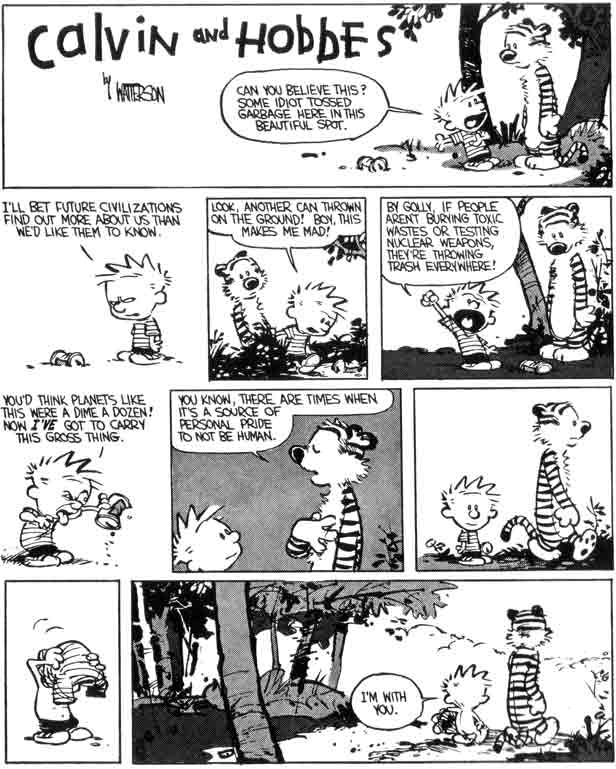 sometimes its a source of pride not to be human calvin hobbes