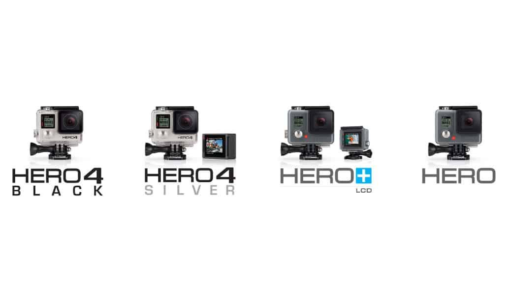 GoPro HERO4 Black vs HERO4 Silver vs HERO+ LCD vs HERO vs