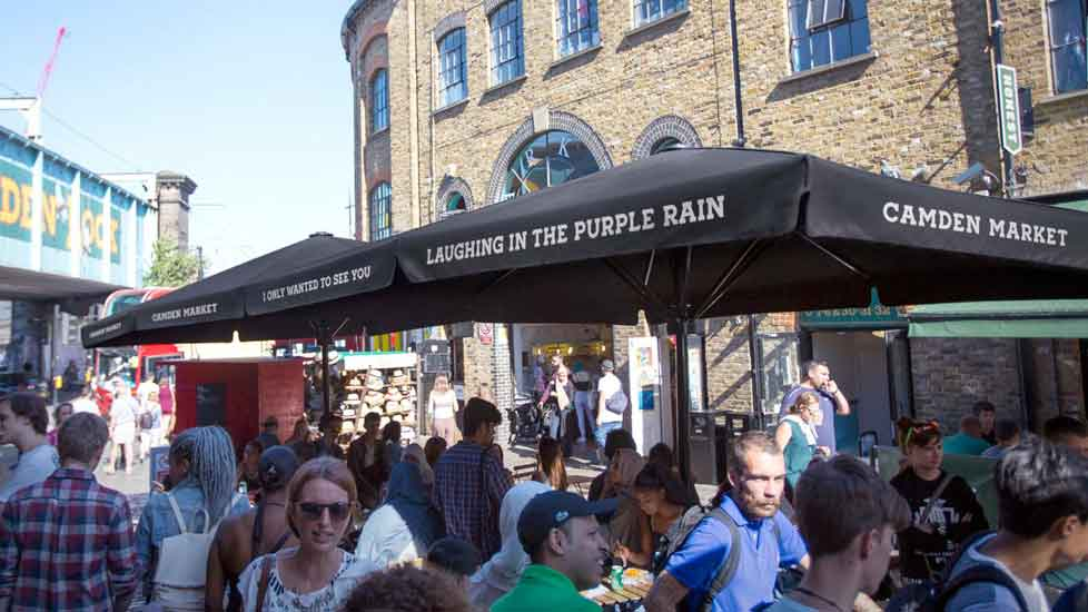 Camden market busy with people