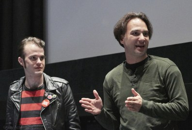 Director Mario CUZIC and writer B.B. Clarke at the Q&A after screening of Garage Rockin' Craze