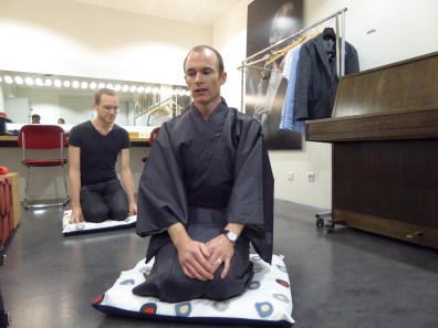 Dr. Matthew SHORES giving rakugo workshop