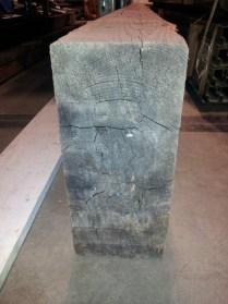 Photograph of a large piece of Douglas Fir wood for a workbench. Photograph by Brent VanFossen.