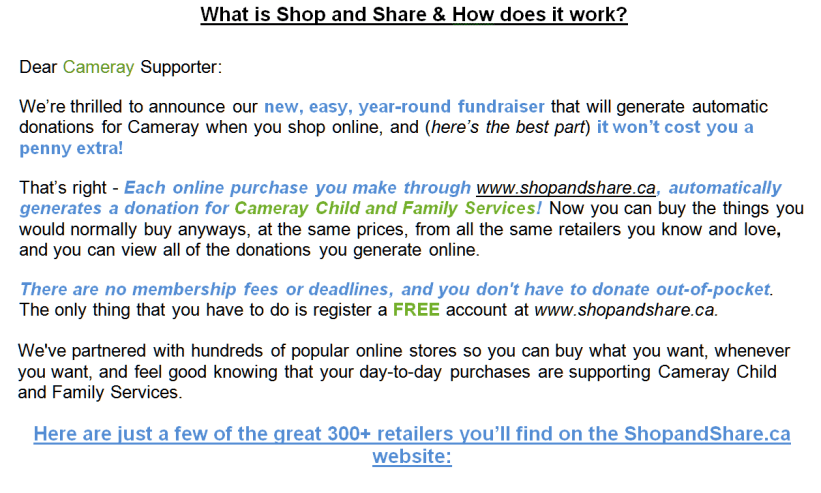 Shop and Share Flyer Part 2