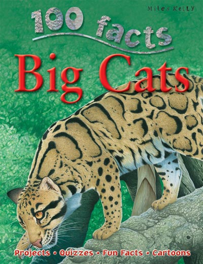 100 Facts Big Cats includes key topics about these feisty felines including amazing tiger facts for kids in easily-digestible, numbered paragraphs. Every page features amazing illustrations and photographs that clarify difficult points for kids. This is the perfect guide for parents searching for lion, cheetah or tiger books for kids aged 7+ years.
