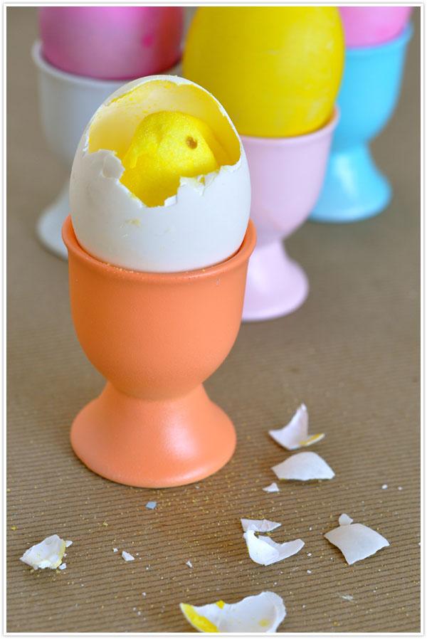 egg hatching peep easter egg diy