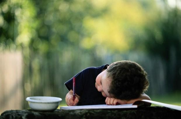 boy-child-pen-pencil-write-draw-album-image-bowl-cup-blurred-background