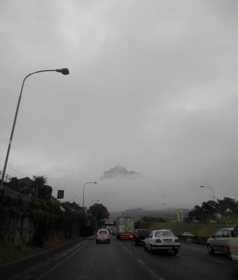 There was a mountain there this morning.