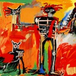 jean michel basquiat boy-and-dog-in-a-johnnypump