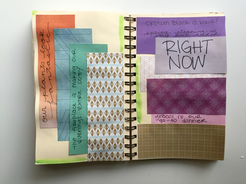 Right Now Art Journal Prompt for Messy Lists Creative Journaling Challenge - Campfire Chic