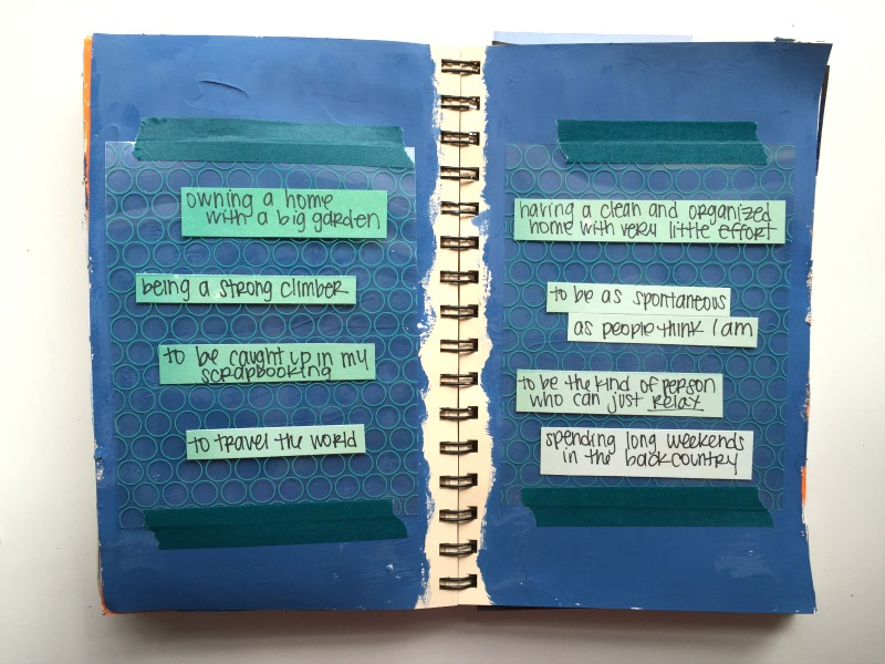 Get Messy Art Journal Season of Lists - Campfire Chic