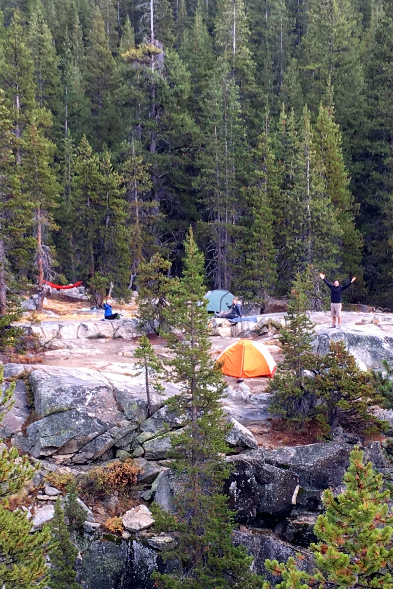 Glen Aulin Backpacking Trip - backpackers campground in yosemite national park-campfire-chic