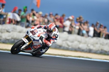 Jonathan Rea, a threat all last season, was held off the podium. Photo: WSBK
