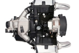 The top view of the motor.