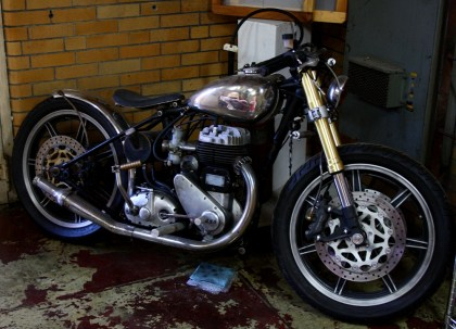 "Here's Scott Colosimo's ""slightly customized"" BSA, om display in the corner of CCW's headquarters. Photo: Zac Kurylyk"
