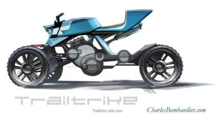 This trike would be a three-wheel drive. Photo: CharlesBombardier.com