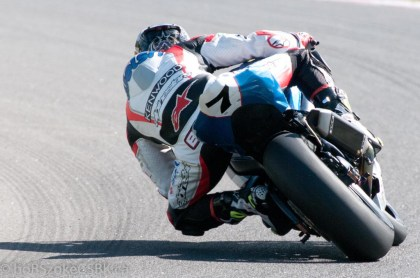 Alex Welsh had a mathematical chance to snatch the title away at Mont Tremblant, but Szoke held him off. Welsh managed to finish second in the standings for 2013's pro superbike series. Photo: Bob Szoke
