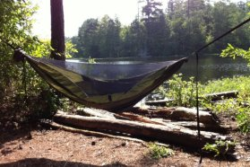 There are a few different tarps available for the Blackbird. They didn't send me one, so I used one from my Hennessy hammock. Photo: Black Scout Survival
