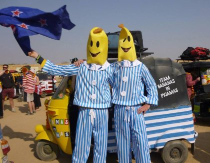 Team Bananas in Pajamas looks like they might have escaped from the Mad Bastard Scooter Rally. Photo: Facebook