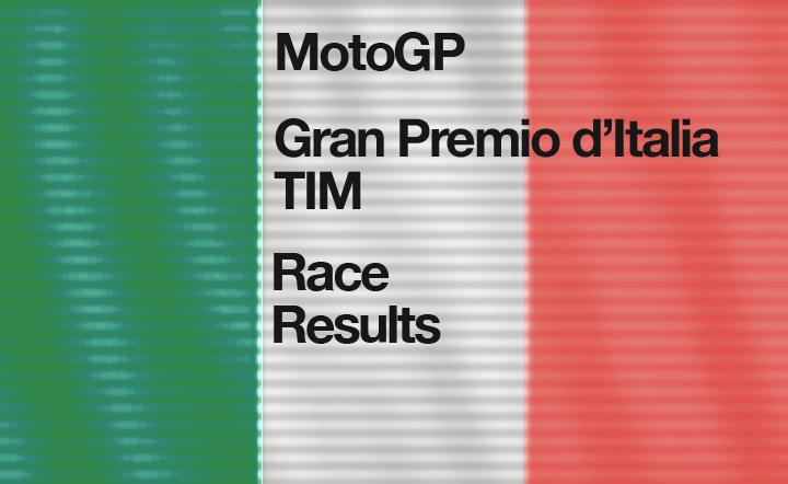 MotoGP Round 6 Gran Premio d'Italia – Race Results